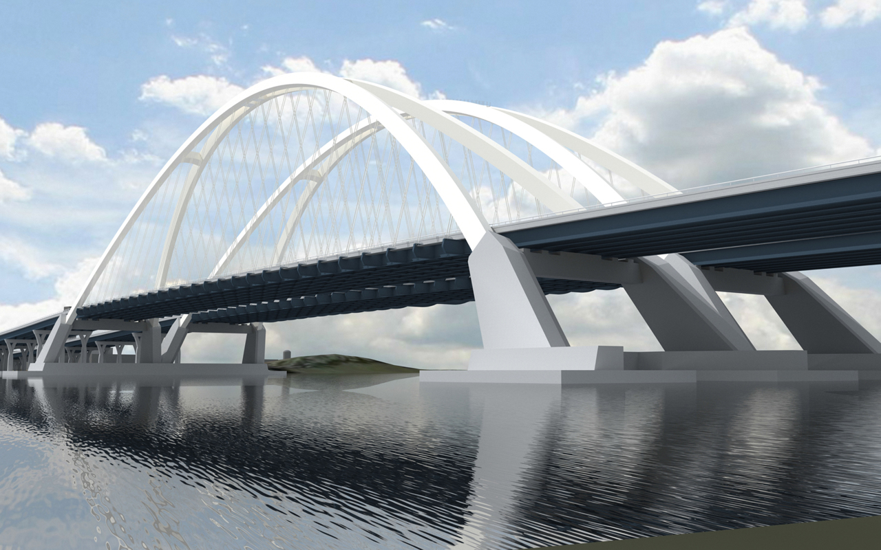 New I 74 Bridge Rendering