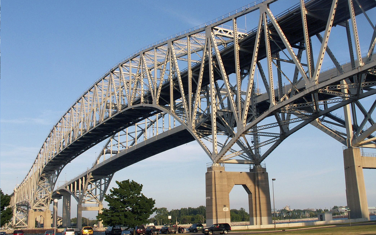 News Article Photo Blue Water Bridges I